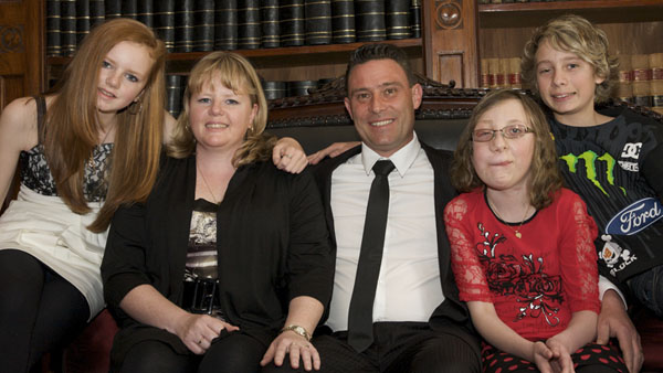 Andrew Streader, 2011 Father of the Year for Victoria