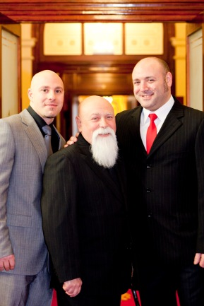 Victoria's 2012 Father of the Year Romeo Biancofiore, of St Albans, with sons Rob and Anthony.
